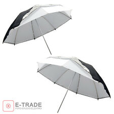 "2pcs Universal 43""/110cm Removable reflective black and white Softlight umbrella"