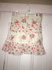 United Colors of Benetton girls skirt Sz 4 110 100% cotton White Floral Gauzy