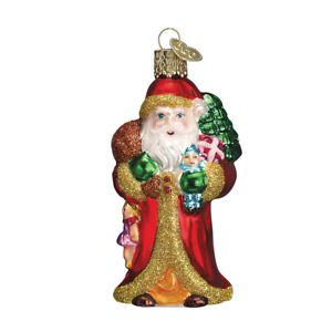Old World Christmas FATHER CHRISTMAS WITH GIFTS (40040)N Glass Ornament w/Box