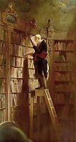 """Dream-art Oil painting Carl Spitzweg The bookworm Librarian hand painted art 36"""""""