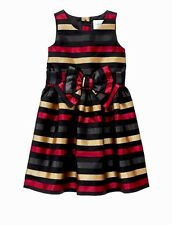 NWT GYMBOREE JACQUARD METALLIC GOLD STRIPE ROYAL RED COLLECTION  Size 8