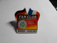 Allemagne-France PIN FAN CLUB COCA COLA Bremen 29.02.2012 DFB