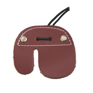 Leather Archery Finger Guard Protector Arrow Hunting Target Finger Tab Protector