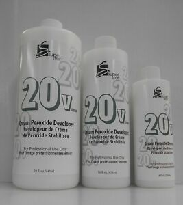 SUPER STAR 20 VOLUME CREAM DEVELOPER ~ Three Sizes To Choose From ~ 8, 16, & 32