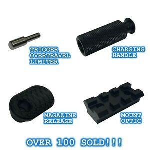 Ruger PC Upgrade Package Extended Charging Bolt Handle Mag Release Optic Mount