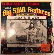 Run of the Arrow, Rod Steiger, Rare Super 8 (8mm) Cine Film Movie Western B&W