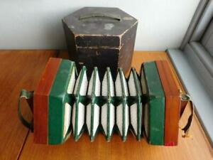 Vintage LOUIS LACHENAL Concertina Hexagonal Squeeze Box Accordion in Case London
