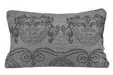 "Luxury Grey Pillow Cushion Covers Sel de Mer Soft 100% Cotton Chenille 18"" 45cm"