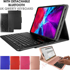 "For Apple iPad Pro 12.9"" 2020 4th Generation KEYBOARD Leather Smart Case & Stand"