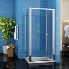 90x70cm Duschkabine Duschtür Falttür Dusche Echtglas Duschwand mit Duschtasse