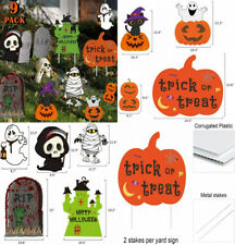 Halloween Decorations Outdoor Yard Signs with Stakes, Trick or Treat Yard.