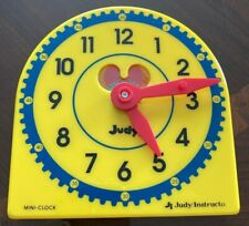 Judy Instructo Mini-Clock Teaching Learning Plastic Clock Telling Time