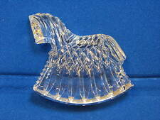 Waterford Lead Crystal Rocking Horse Figure Figurine Paperweight Baby Nursery