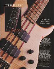 Peavey Cirrus Bass Guitar 1997 ad 8 x 11 advertisement print