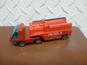 Original Hot Wheels Redline Enamel Red Heavyweights Fire Truck See Pictures