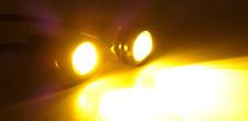 2 Amber LED JEEP Tube Slider Rock Guard Fender Trail Lights XJ CJ TJ YJ JK JL WJ
