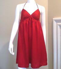 Old Navy Red Babydoll Halter Slip Dress Lingerie Nightgown Size XXS