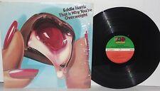 EDDIE HARRIS That Is Why You're Overweight LP 1975 Atlantic Soul Funk Vinyl