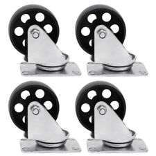 4pcs Cast Iron Swivel Plate Caster 3 Heavy Duty Industrial 440lb Rated Capacity
