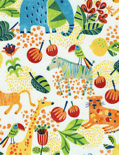 Timeless Treasures Safari Animals Scenic 100% cotton fabric by the yard