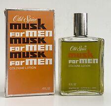 Vintage Shulton Old Spice Musk For Men Cologne After Shave Splash 4 fl oz
