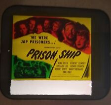 Prison Ship 1945 Vintage Glass Slide Nina Foch