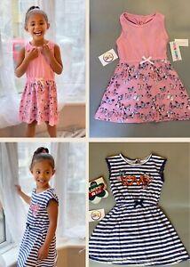 BNWT girls 2 PACK cotton butterfly pink love summer holiday beach dress clothes