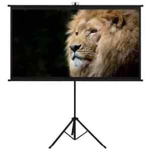 "vidaXL Projection Screen with Tripod 100"" 16:9 Film Display Projector Screen"