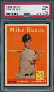 1958 Topps Set Break # 302 Mike Baxes PSA 7.5 *OBGcards*