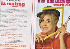 PUBLICITE ADVERTISING 094 1967 MARIE CLAIRE la maison le numéro 1 (2 pages)