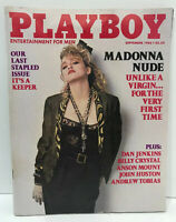 Madonna Playboy Magazine September 1985 Billy Crystal Last Stapled Issue RARE