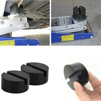2Pieces Black Floor Jack Pad Adapter for Pinch Weld Side JACK PAD Universal New