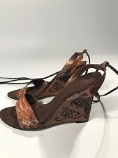 Leather Wedge Straps Sandals size 8