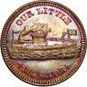 1863 Our Little Monitor Patriotic Civil War Token NGC MS65