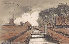 Om de Kwakel AK 1900 Molen Windmühle Künstler Niederlande Nederland 1611282