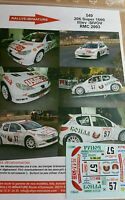 DECALS 1/43 REF 549 PEUGEOT 206 S1600 ILLIEV RALLYE MONTE CARLO 2003 RALLY WRC