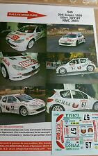 DECALS 1/24 REF 549 PEUGEOT 206 S1600 ILLIEV RALLYE MONTE CARLO 2003 RALLY WRC