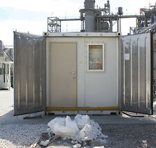 20 ft refrigerated shipping container converted to site office / control room