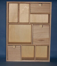 New 30cm wide mini wooden chest of drawers storage unit 3 drawer, 6 compartments