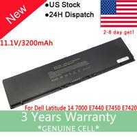 New Brand Battery For Dell Latitude E7440 E7450 T19VW F38HT E7000 PC 47WH