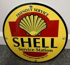 Shell Service Station Gas Oil gasoline sign ... free ship on any 10 signs