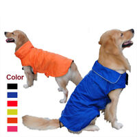 Dog Waterproof Rain Coat Reflective Outdoor Fleece Warm Jacket Vest Pet Puppy UK