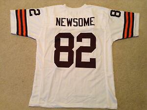 UNSIGNED CUSTOM Sewn Stitched Ozzie Newsome White Jersey - Extra Large