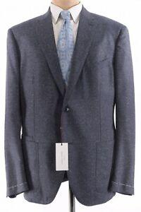 Luciano Barbera NWT Sport Coat 48R In Blue Fleck Melange Wool Silk $1,895