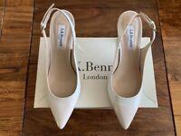 LK Bennett leather white pearlised ombre patent shoe UK 5 38 BNIB RRP £185