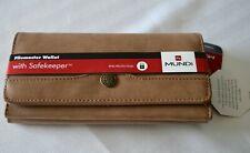Mundi File Master Safekeeper Wallet Clutch Brown RFID Travel Organizer Coupon