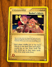 "Pokemon EX Team Rocket Returns 86/109 ""Rocket's Admin."" NMin-Mint"
