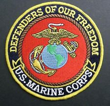 MARINE USMC DEFENDERS OF OUR FREEDOM EMBROIDERED JACKET PATCH 5 INCHES MARINES