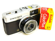 Reconditioned Olympus Trip 35 (Serviced) FAB COND Black Leather & FREE FILM
