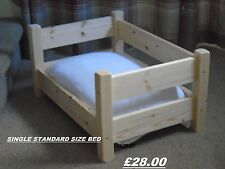 CUTEST RAISED PINE SINGLE BED FOR YOUR DOG OR CAT